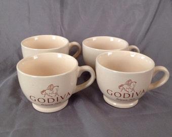 Vintage Godiva Coffee Cups