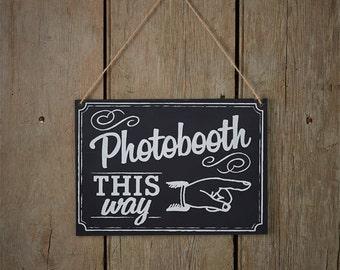 A Vintage Affair Chalkboard Wedding Photo Booth Sign