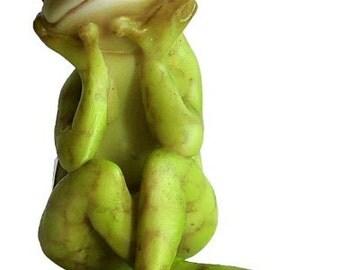 "2"" Frog in Thought Fairy Garden Terrarium Dollhouse Miniature Decor Animal"