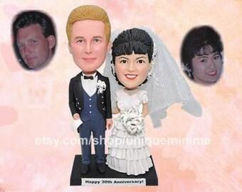bride and groom custom cake topper form your photo   figurine cake topper personalized cake topper   birthday cake topper wedding shower
