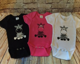 Cute zebra baby bodysuit onesie