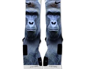 Custom Nike Elite Sock Harambe The Gorilla Big