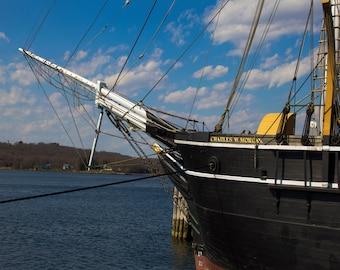Whaling Ship Charles W. Morgan - Charles W Morgan Mystic Mystik CT - Connecticut Photograph - thetravelingcamera - TheTravelingCamera