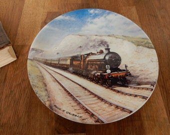 Vintage Southern Belle, Davenport Collectors Plate.Great for display, Train Plate, boho,retro, Vintage Trains.