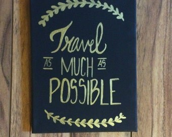 Travel Quotes Canvas 8x10