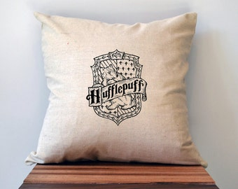 Harry Potter Hufflepuff House Pillow Cover, 18 x 18 Pillow, Harry Potter Pillow, Hufflepuff Pillow, Hufflepuff christmas gift for friend