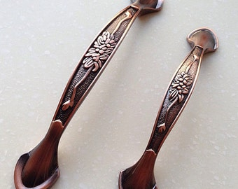 375 5 dresser handles drawer pulls handles antique copper bronze kitchen cabinet door - Copper Kitchen Cabinet Hardware