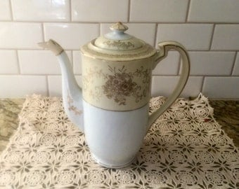 Beautiful cream gold and white teapot made in Japan