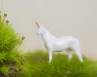 Unicorn Terrarium Figurine, Handmade Unicorn, Unicorn Figurine, Miniature Unicorn, For Terrarium kit, gift, or desk