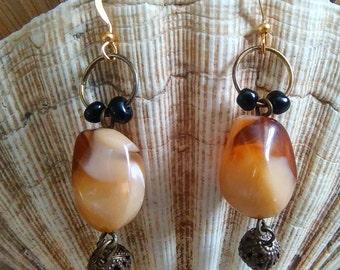 Owl Stone Earrings
