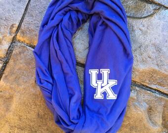 UofK University of Kentucky Infinity Scarf – light weight jersey material