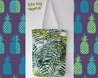 Tote bag thick fabric - shopping bag - Model VEGETAL