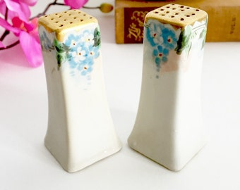 Vintage Salt and Pepper Shakers - Ceramic Salt and Pepper, Floral Salt and Pepper