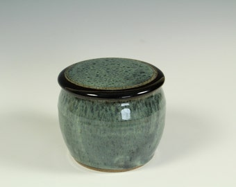 French Butter Keeper - Granite Green