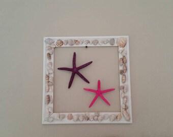 Gracies Corner~~Starfish / Starfish Picture / Starfish Push Pins / Wall Decor