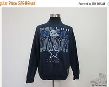 ON SALE Vtg 90s Jostens Mens Dallas Cowboys Crewneck Sweatshirt sz XL Extra Large Nfl Vintage