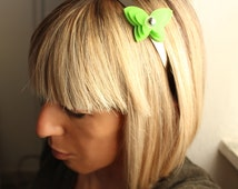 Butterfly hairband green hairband | hair band | bijoux de tete | green butterfly | headband | changeble | interchangeable bow | hairband