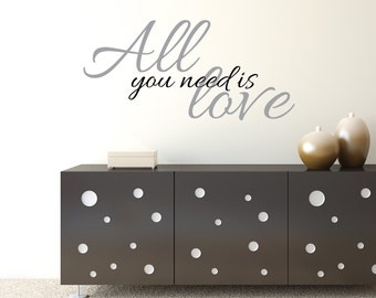 Wall Sticker Love Quote All You Need Is Love Bedroom Wall Decor Love