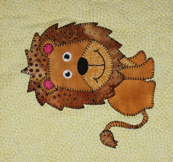 Lion Pdf Applique Pattern African Safari Animal Pdf Applique