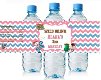 Sheriff Callie Birthday Water Bottle Labels, Sheriff Callie Birthday Party Supplies, Sheriff Callie Rodeo Water Bottle Wrappers