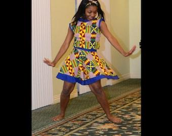 Kente Cloth Skirt and  Blouse  Set