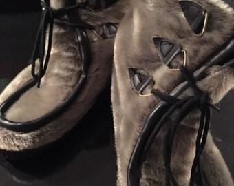 Vintage Mens Fur Eskimo Boots