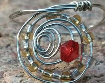 Beaded Swirl Ring