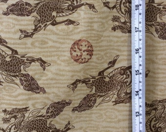 Japanese Cotton Fabric Kirin Qilin