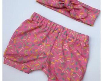 Sprinkles Shorts & Topknot Set