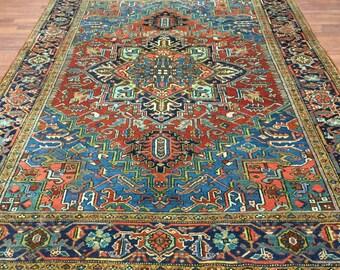 Beautiful antique Persian Heriz rug-4359