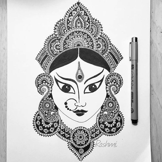 Maa Durga Art Print