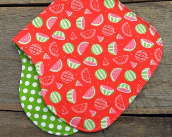 Baby burp cloth, watermelons