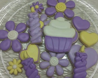 Pretty Birthday Cookies (available in any colors)