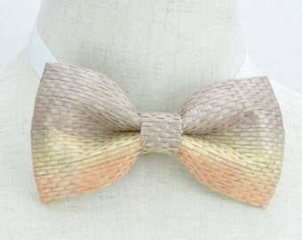 Italian Style Bow tie, Men's Bow Tie, Wedding bow tie, Groom bow tie, Performance bowtie, Bamboo mat like material bow tie, BT15003