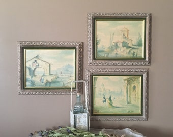 Wall Art Set Vintage Rustic