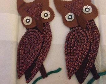 Adorable Vintage Kitschy Owl Magnets