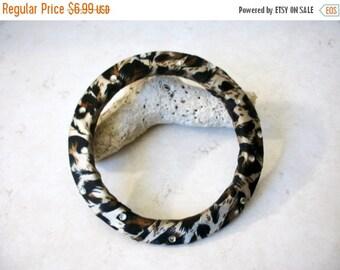 ON SALE Vintage 1970s Silk Fabric Rhinestone Bracelet 83116