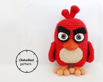 Red Angry Birds crochet pattern!