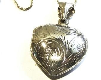 Heart Locket Sterling Silver Necklace