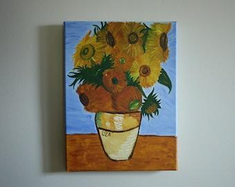 Van Gogh's Sunflowers 11x14 Inches