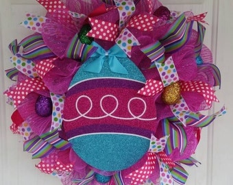 Easter Egg Spring Wreath