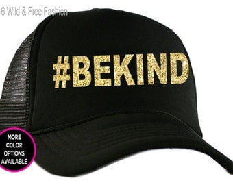 Be Kind Trucker Snap Back Cap | Hashtag Bekind hat