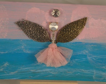 Pink Angel on Water