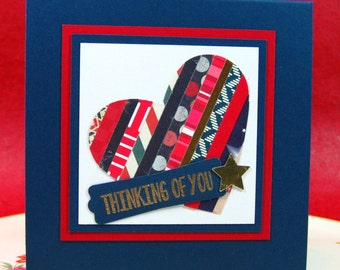 Thinking of You, Patriotic, Military, Just Because, Miss You, Card, Blank Inside