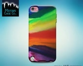 Crayon Art Melted Rainbow Colorful Pretty Amazing Cool Awesome Rubber Case for iPod Touch 5th Gen Generation iPod Touch 6th Gen Generation