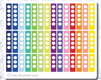 Circle Ribbon Checklist Stickers