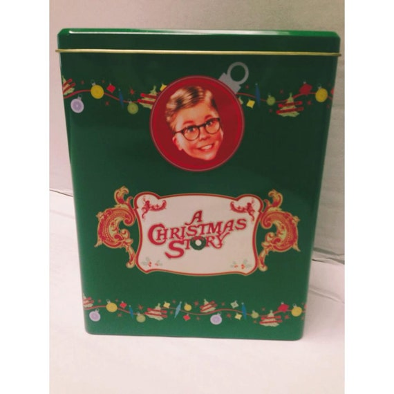 A Christmas Story Tin and String of Leg Lamp Lights Shipping