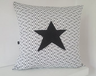 Black and white geometric Cushion cover