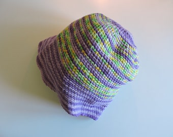 bonnet - was in purple and green cotton Hat