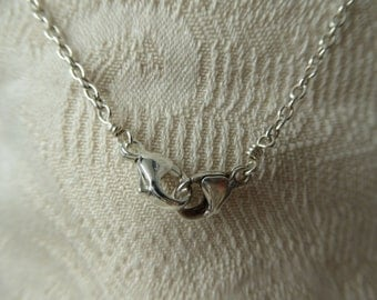 Sterling Silver dual clasp chain necklace